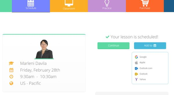 New feature - add lessons to your personal calendar!